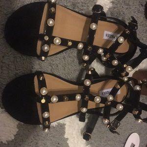 Steve Madden Crowne black studded sandals